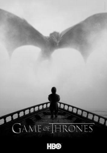 Game Of Thrones black and white poster