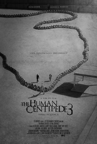 Human Centipede 3 Black and White Poster 24