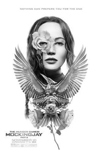 "Hunger Games Mockingjay Part 2 Black and White Poster 24""x36"""