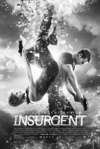 Insurgent Black and White Poster 24
