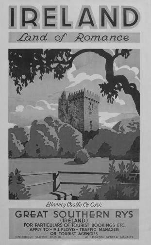Ireland Land Of Romance 1930 poster tin sign Wall Art