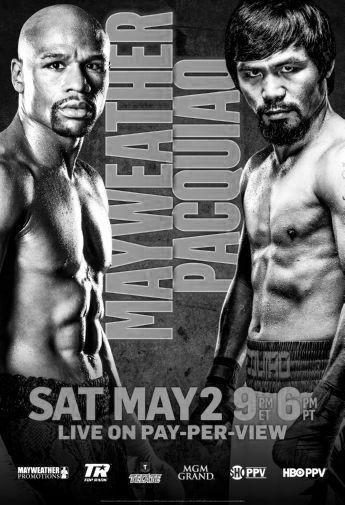 Mayweather Pacquiao poster tin sign Wall Art