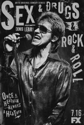 Sex And Drugs And Rock Roll black and white poster