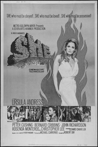 She Black and White Poster 24