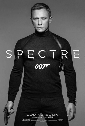 Spectre Black and White Poster 24