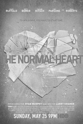 Normal Heart The black and white poster