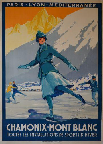 1St Winter Olympics poster tin sign Wall Art