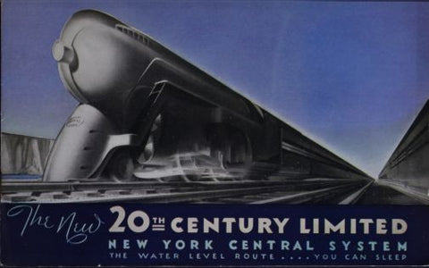 Railroad 20Th Century Limited Railway Mini poster 11inx17in