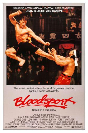 Bloodsport movie poster Sign 8in x 12in