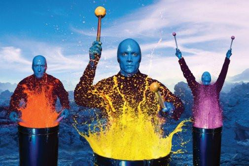 blue man group poster tin sign Wall Art