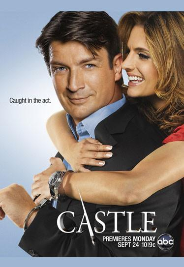 Castle Poster 24X36in Castle and Beckett Caught in the Act 24x36 - Fame Collectibles