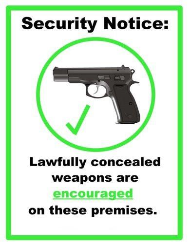 Concealed Carry Weapons Allowed Sign poster 27x40| theposterdepot.com