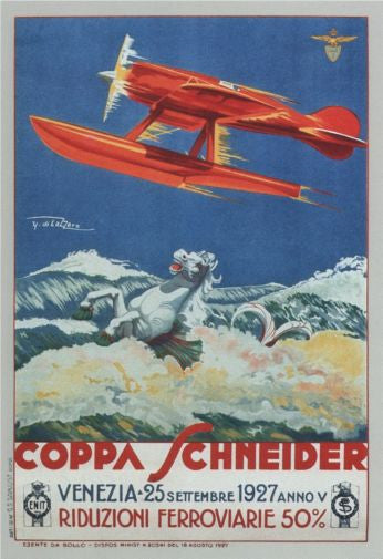 Aviation and Transportation Italian Seaplanes Coppa Schneider 1927 Poster 16