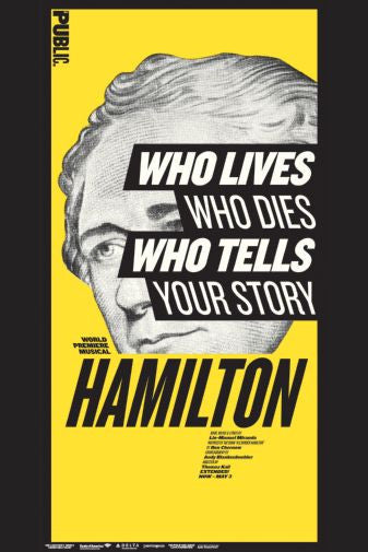 Hamilton Musical Who Tells Your Story Mini Poster 11x17
