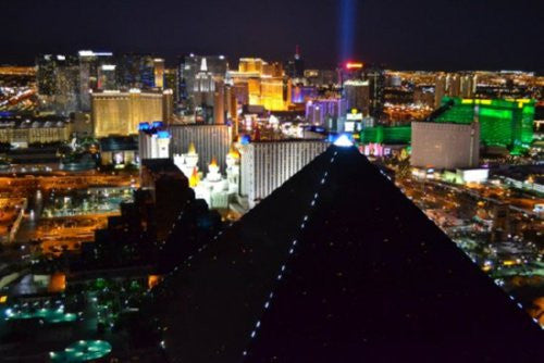 Las Vegas At Night Luxor Mini poster 11inx17in