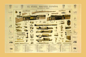 mauser espaniol 1893 shotgun firearm art Mini Poster 11inx17in poster