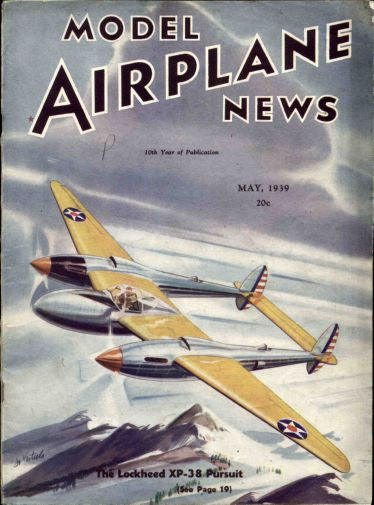 Aviation and Transportation Model Airplane News 1939 Poster 16