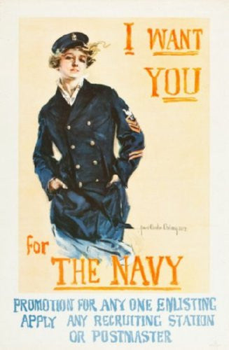Navy Recruitment Mini poster 11inx17in