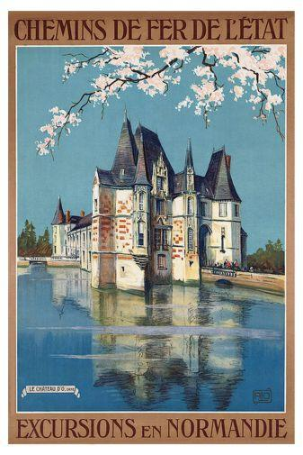 French Railway poster tin sign Wall Art