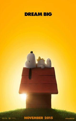 Peanuts movie poster Sign 8in x 12in