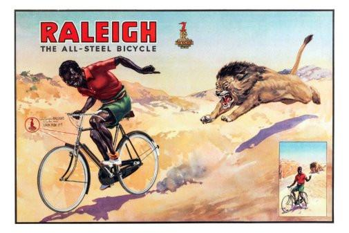 raleigh bicycles vintage advertising print poster tin sign Wall Art