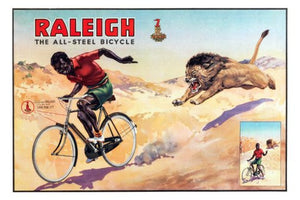 raleigh bicycles vintage advertising print Mini Poster 11inx17in poster