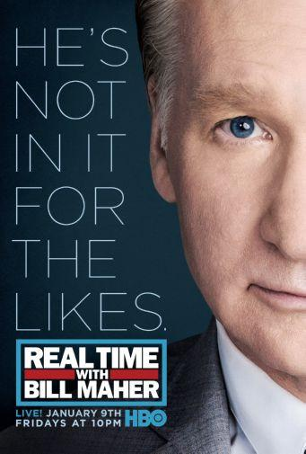 Real Time Bill Maher poster tin sign Wall Art