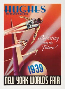 Rocketeer Ny Worlds Fair movie poster Sign 8in x 12in