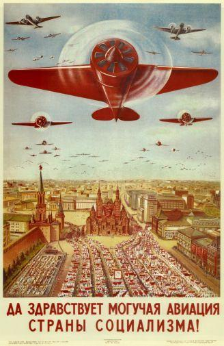 Russian Vintage Planes poster tin sign Wall Art