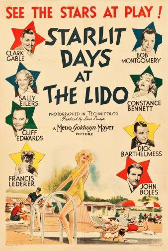 Starlit Days Lido poster tin sign Wall Art