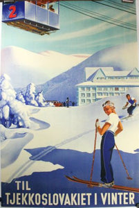 Czechoslovakia Tourism Mini poster 11inx17in