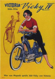 Vicky Motorcycle 1956 poster tin sign Wall Art