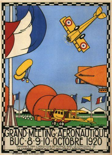 Vintage Planes Fly-In 1920 poster tin sign Wall Art