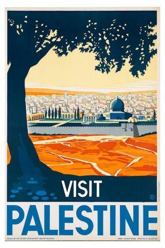 Visit Palestine poster tin sign Wall Art
