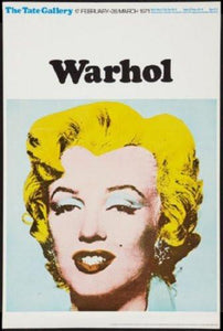 Warhol Exhibition poster tin sign Wall Art