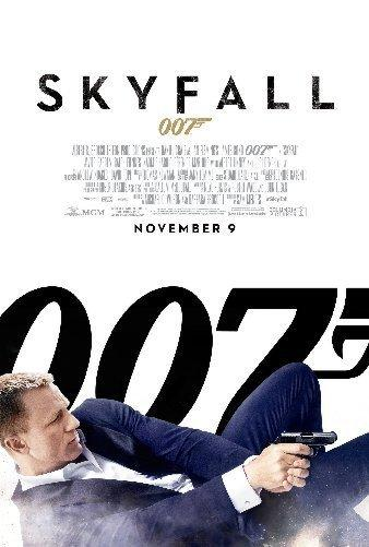 Skyfall James Bond 007 Mini movie poster Sign 8in x 12in