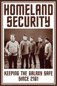Star Trek Tos Homeland Security 24x36 Poster