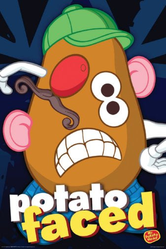 Mr Potato Head Humor Potato Faced! 24x36 Poster