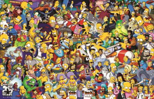 Simpsons The poster tin sign Wall Art