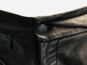 Rag & Bone Black Leather Shorts - Vanity's Vault