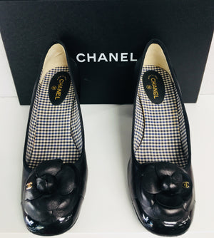 CHANEL Camellia Leather Heels