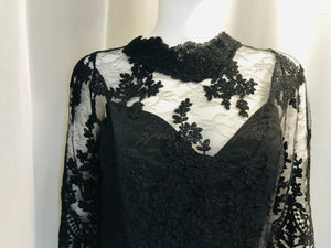 Black Evening Dress - Vanity's Vault
