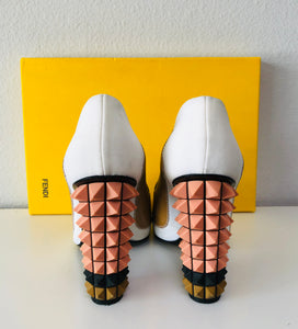 Fendi Pyramid Colorblock Pumps - Vanity's Vault