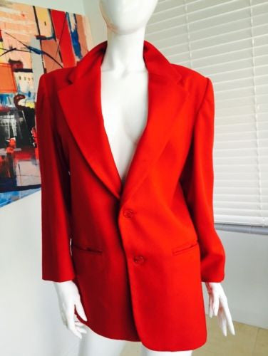 Red Wool Blazer - Vanity's Vault
