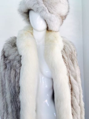 Silver Fox Fur Jacket / Turban