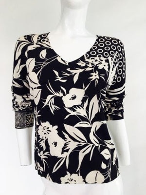 ETRO Black & Cream Top