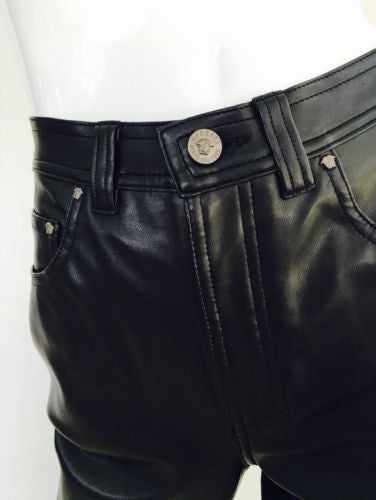 Versace Jeans Couture Leather Pants - Vanity's Vault
