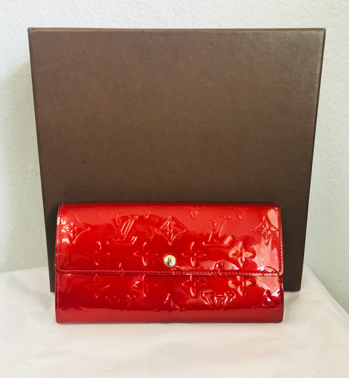 2aa0005dd0fe Louis Vuitton Red Patent Leather Wallet – Vanity s Vault