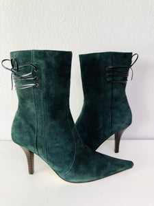 Nine West Suede Booties - Vanity's Vault