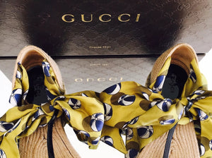 Gucci Tie Up Ribbon Sandals - Vanity's Vault